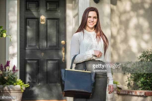 Businesswoman Leaving for Work