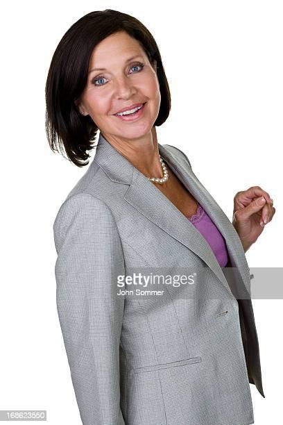 Businesswoman looking back
