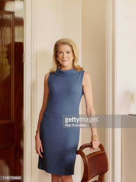 Businesswoman Lynn Forester de Rothschild is photographed for Economia magazine on October 23 2018 in London England