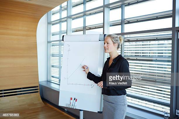 Businesswoman making a strategy presentation