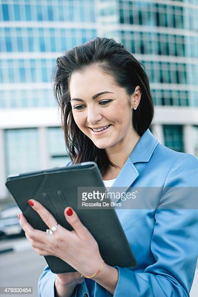 Businesswoman Making A Video Call Using Tablet
