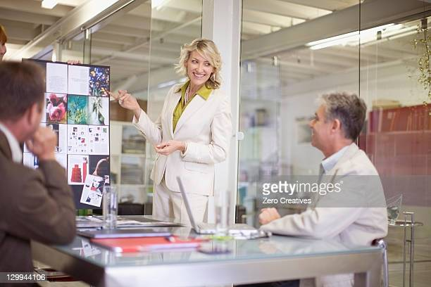 Businesswoman making presentation