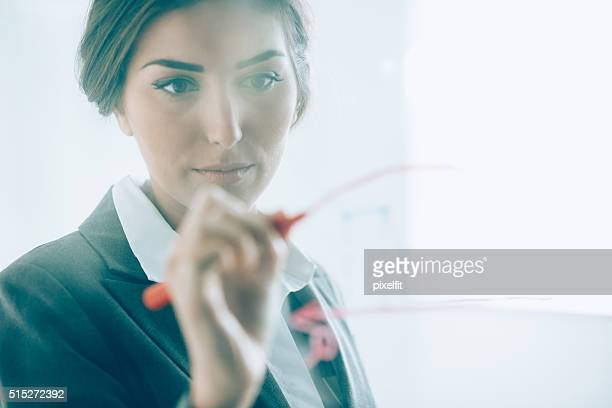 Geschäftsfrau, die Präsentation