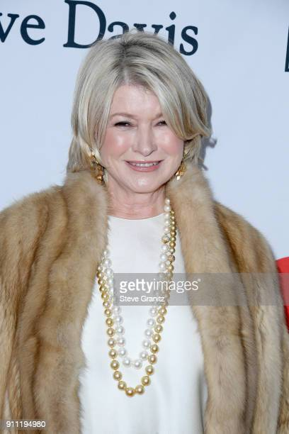 Businesswoman Martha Stewart attends the Clive Davis and Recording Academy PreGRAMMY Gala and GRAMMY Salute to Industry Icons Honoring JayZ on...