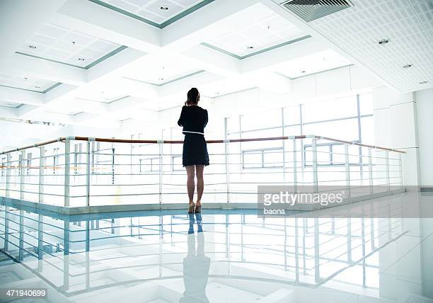 Businesswoman negotiating on phone
