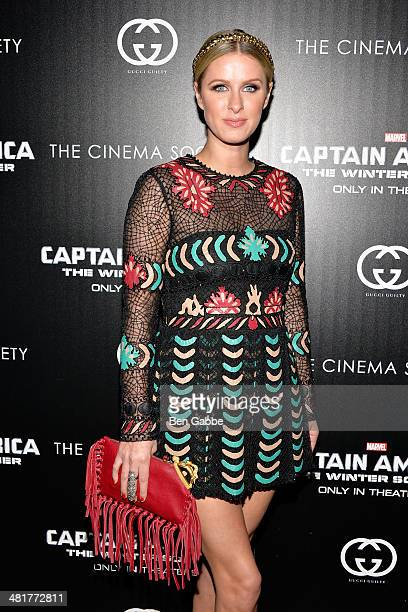 Businesswoman Nicky Hilton attends The Cinema Society Gucci Guilty screening of Marvel's 'Captain America The Winter Soldier' at Tribeca Grand Hotel...