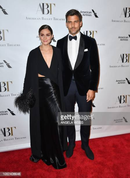 US businesswoman Olivia Palermo and her husband German model Johannes Huebl attend the 2018 American Ballet Theater Fall Gala at David H Koch Theater...