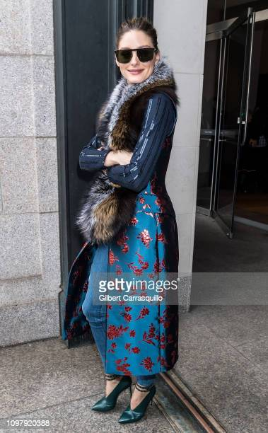 Businesswoman Olivia Palermo is seen leaving the Carolina Herrera Fall/Winter 2019 Fashion Show during New York Fashion Week at the New York...