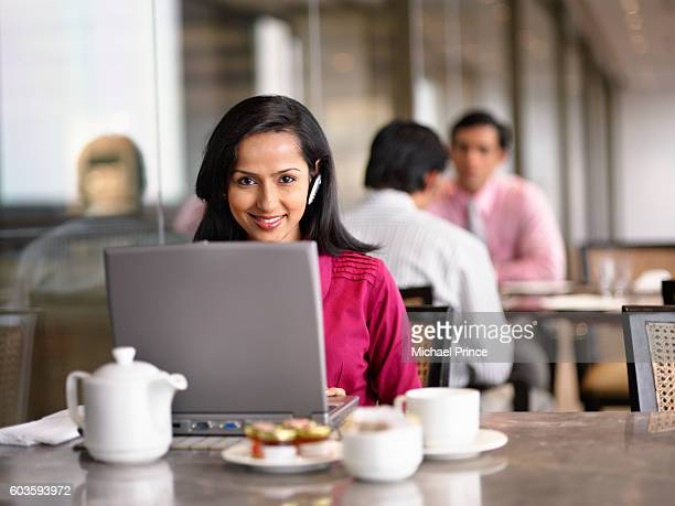 Businesswoman on a Computer