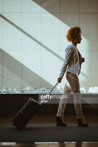 Businesswoman on business travel