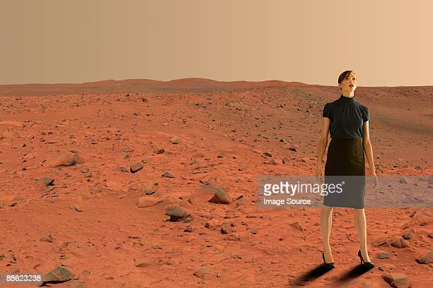 businesswoman on mars - mars stock pictures, royalty-free photos & images