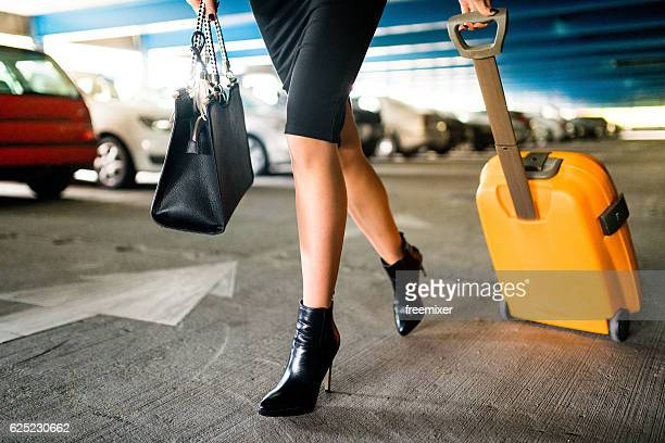 Businesswoman on the move