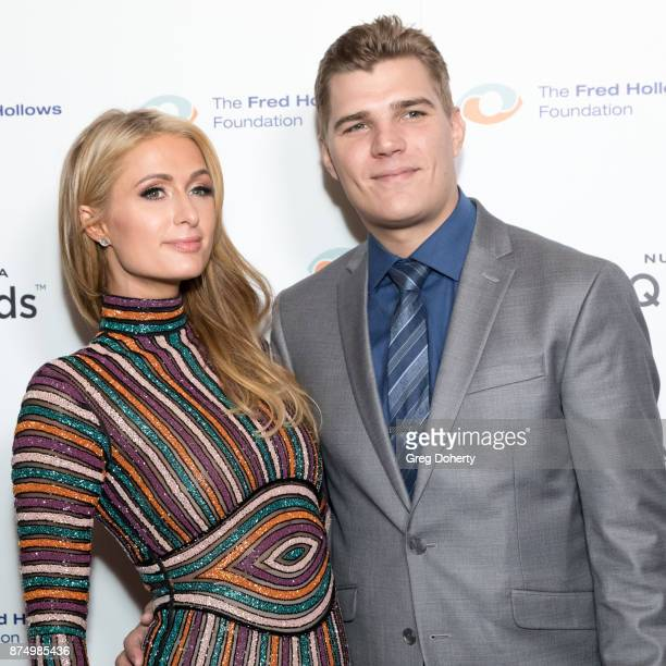 Businesswoman Paris Hilton and Actor Chris Zylka attend the Joel Edgerton Presents The Inaugural Los Angeles Gala Dinner In Support Of The Fred...