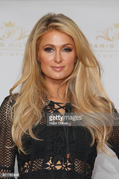 Businesswoman Paris Hilton attends a press conference to promote her new shoe collection Spring/Summer 2017 at Cipriani restaurant on November 8 2016...
