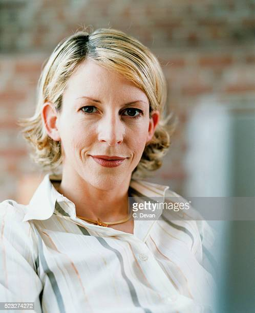 businesswoman - striped shirt stock pictures, royalty-free photos & images