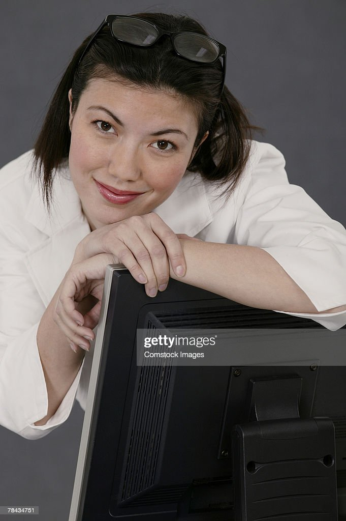 Businesswoman posing : Stockfoto