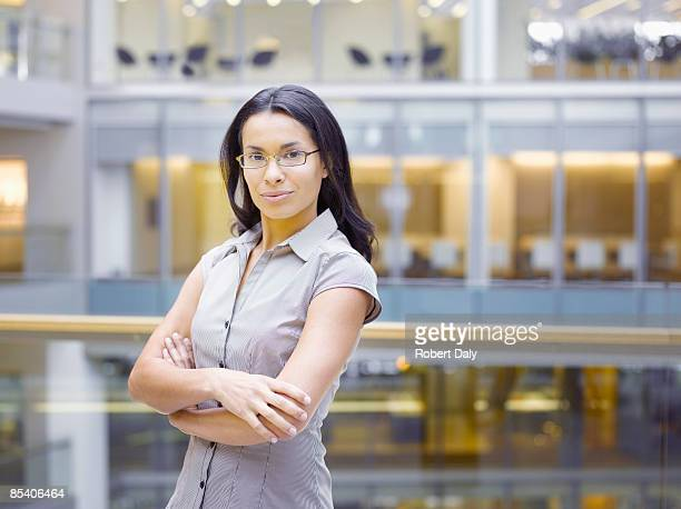 Businesswoman posing with arms crossed
