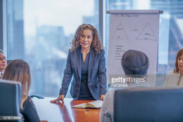 Businesswoman presenting at a meeting