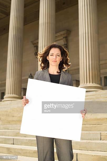 businesswoman protest