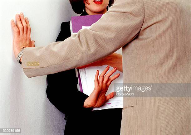 Businesswoman Rejecting Advance