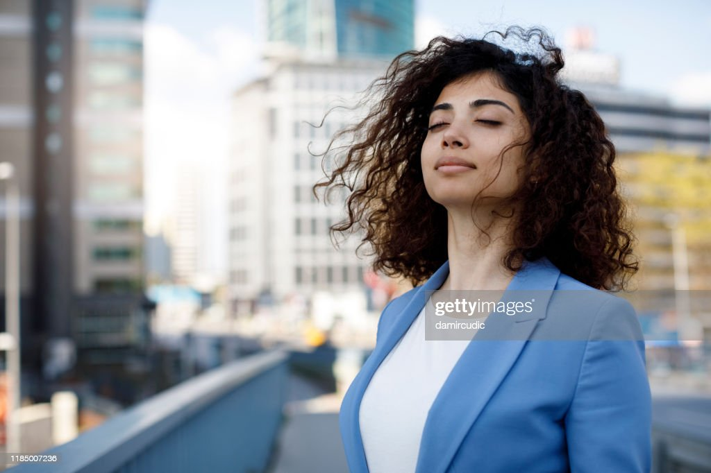 Businesswoman relaxing outdoor : Stock Photo