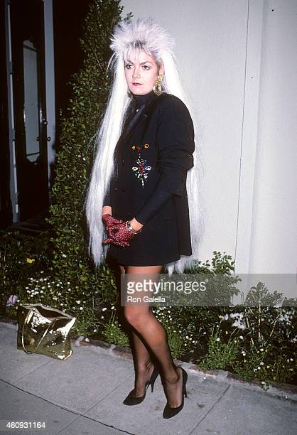 Businesswoman Ruth McCartney attends Scruples by Volere Furs Boutique Grand Opening Celebration on September 11 1986 at Scruples by Volere Fur...