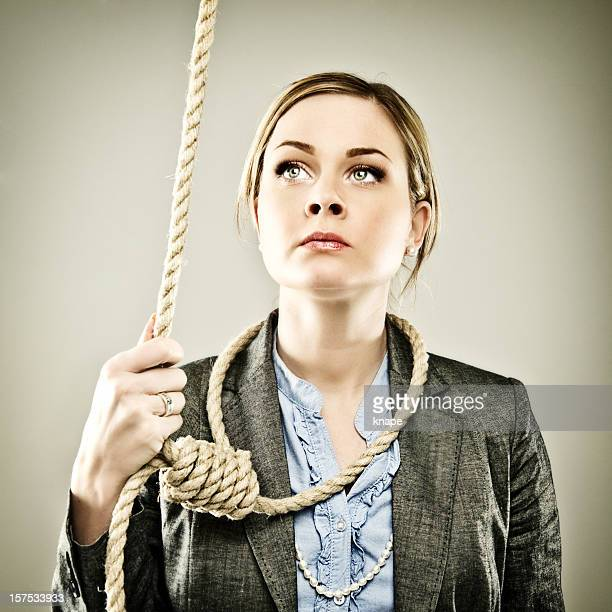 businesswoman series - bad times - suicide stock photos and pictures