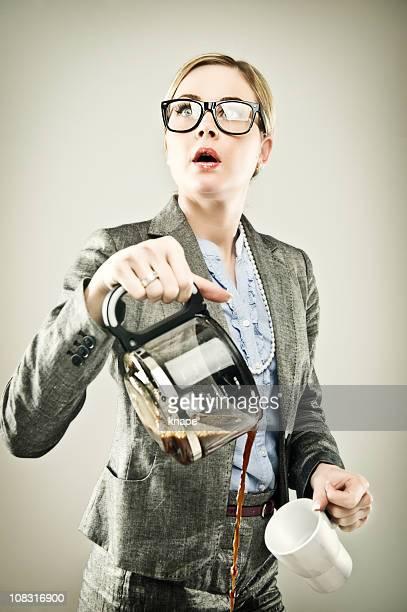 Geschäftsfrau Serie-Abgelenkt