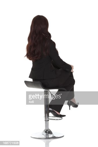 Businesswoman Sitting On A Chair Stock Photo Getty Images