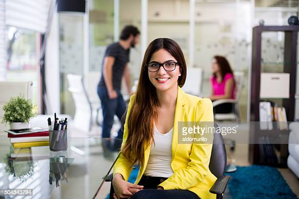 businesswoman smiling - mexican business women stock photos and pictures