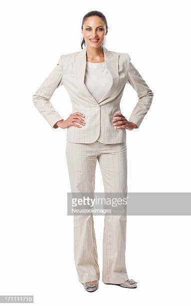 Businesswoman Smiling With Confidence - Isolated