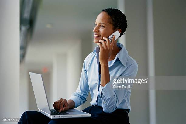 Businesswoman Speaking on Cell Phone