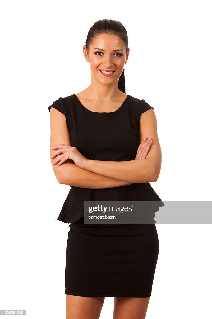 Geschäftsfrau voller Erfolg wird, und vertrauen darauf : Stock-Foto
