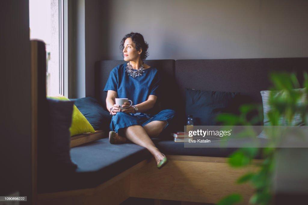 Businesswoman taking a break : Stock Photo