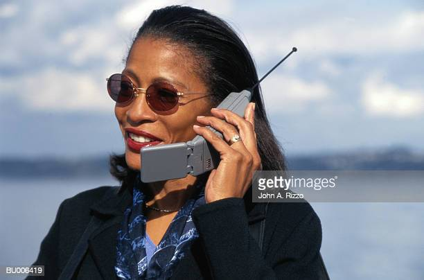 Businesswoman Talking on Cellular Phone