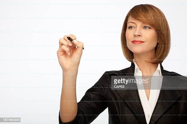 Mulher de Negócios de ensino