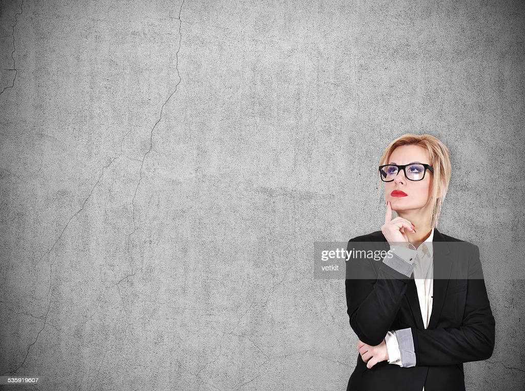 businesswoman thinking : Stock Photo