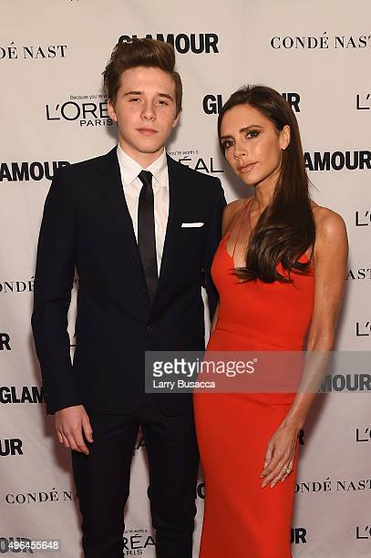 Businesswoman Victoria Beckham and Brooklyn Beckham attend 2015 Glamour Women Of The Year Awards at Carnegie Hall on November 9 2015 in New York City