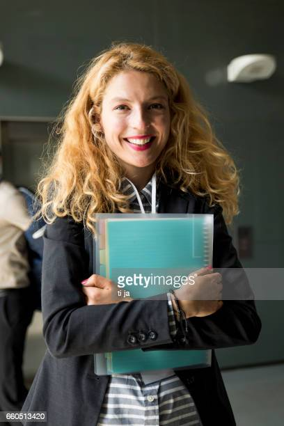 Businesswoman with a file