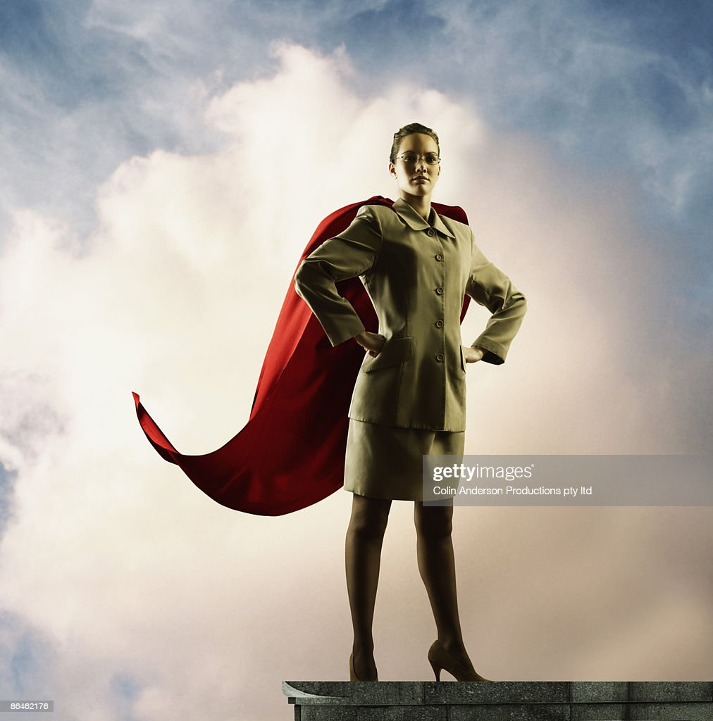 Businesswoman with cape : Stock Photo