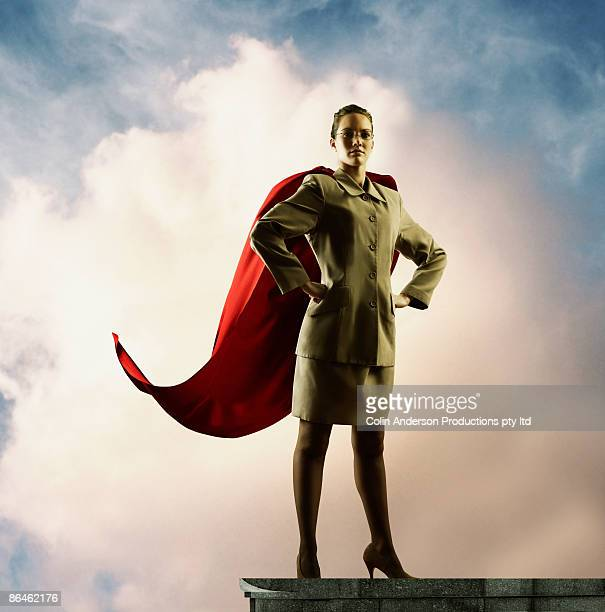 Businesswoman with cape