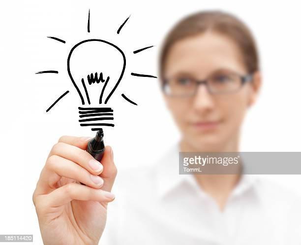 Businesswoman with Idea