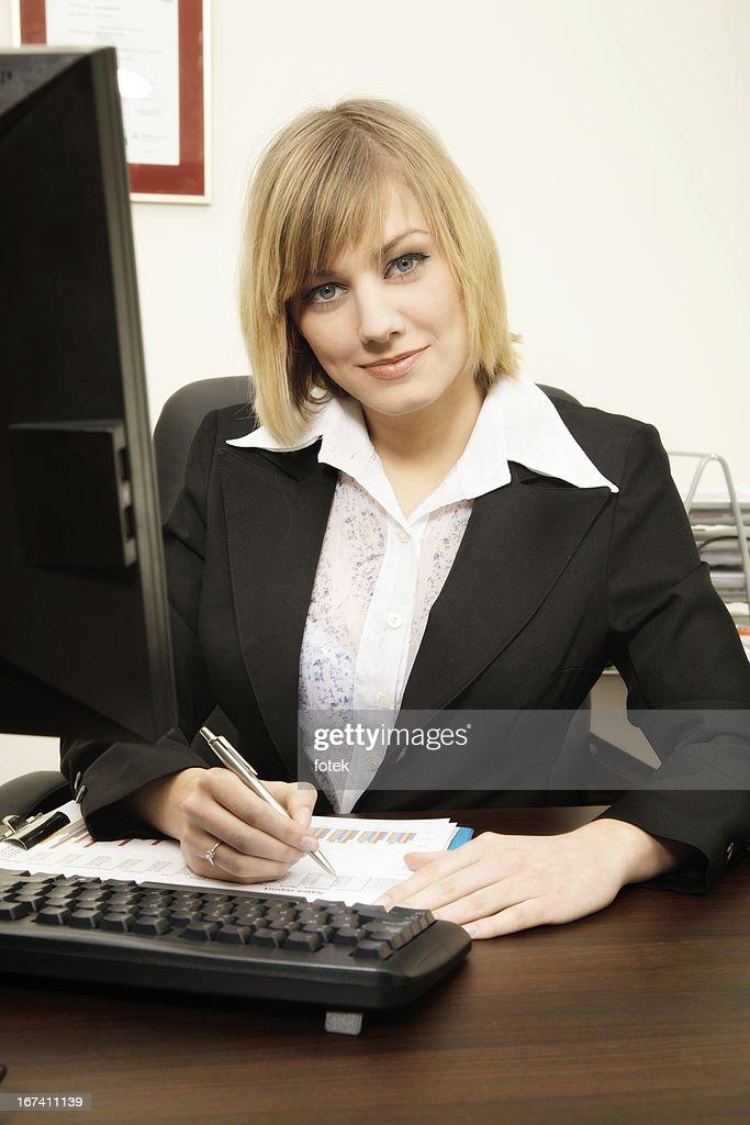 Businesswoman working : Bildbanksbilder