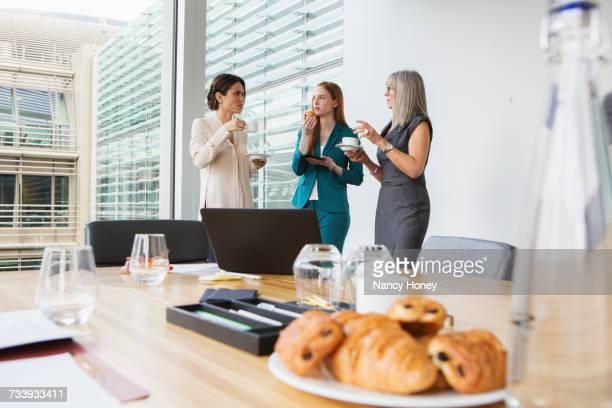 Businesswomen at breakfast meeting