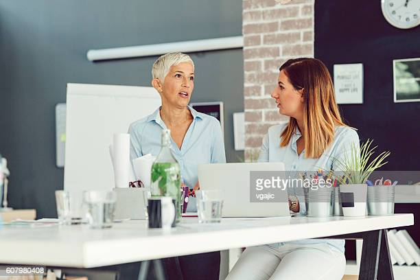 Businesswomen Brainstorming