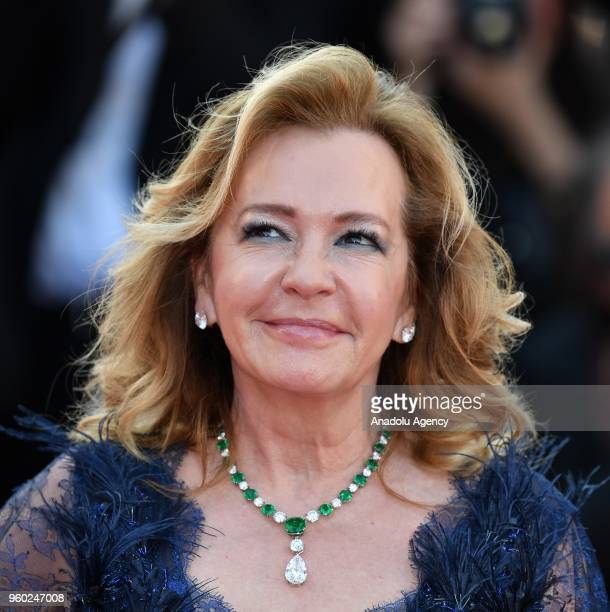 Businesswomen Caroline Scheufele arrives for the screening of 'The Man who Killed Don Quixote' and Closing Awards Ceremony at the 71st Cannes Film...