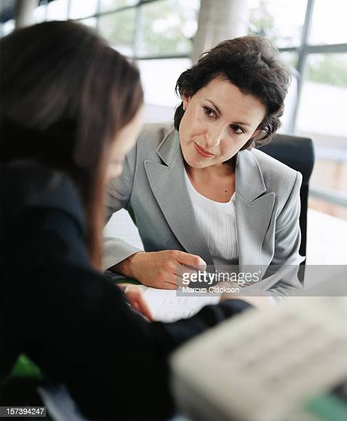 Businesswomen having discussion
