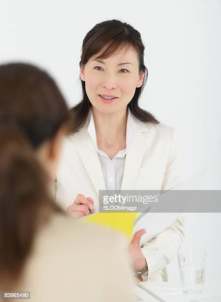 Businesswomen having meeting