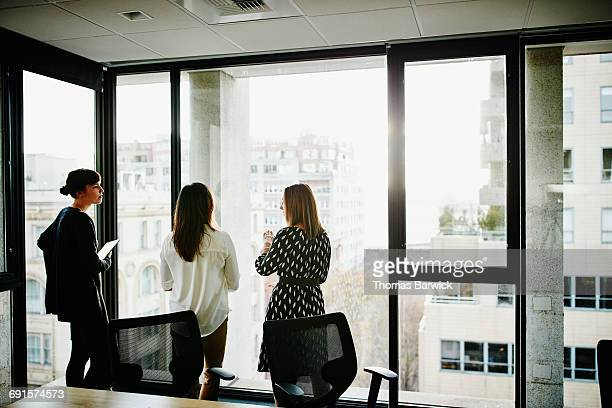 Businesswomen in discussion in office