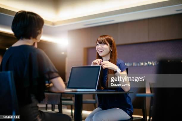 Businesswomen in Japan having a meeting